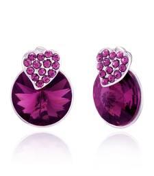 Buy Purple Swarovski Elementsstuds stud online
