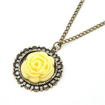 Yellow Flower Neck Piece(CFN0016)