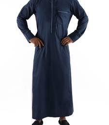 Buy Blue cotton ashfak thobe thobe galabiyya online