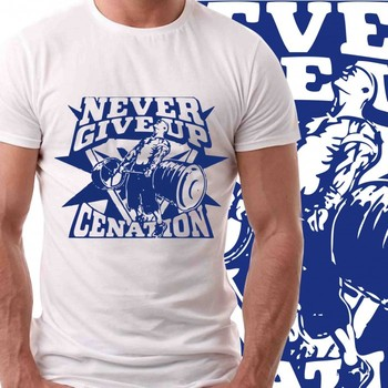 Never Give Up Jhon Cena Mens Tshirt