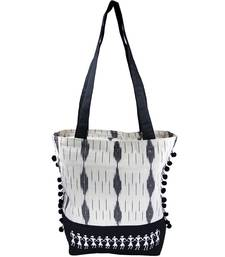 Buy Black Cotton hand woven sling bags sling-bag online
