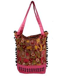 Buy Pink Cotton hand woven sling bags sling-bag online
