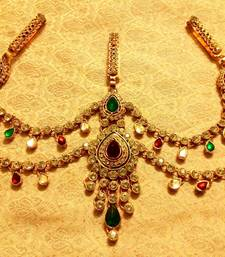 Buy Kundan triple juda waist belt kamarband ethnic wedding jewellery waist-belt online