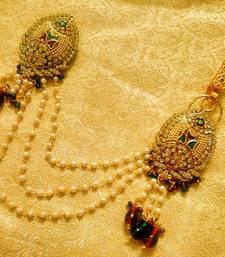 Buy Maroon Green Bridal Saree Pin Brooch Juda Wedding Jewelry brooch online