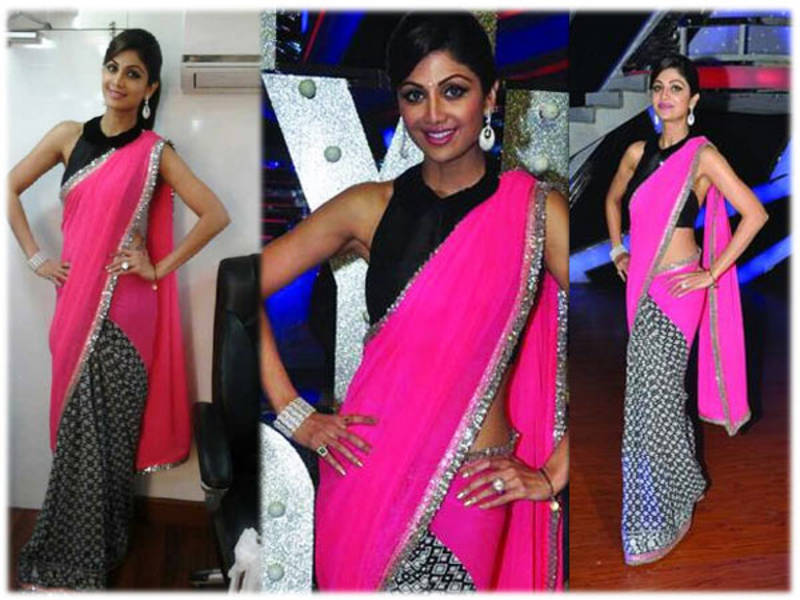 Buy Bollywood Replica Shilpa shetty half half printed ...