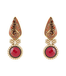 Buy Red Bindi Design Earrings bindi online