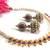 Purple gota pearl necklace set