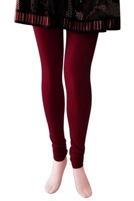 Just Women - Maroon coloured Leggings, 4way stretch