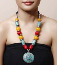 Buy Turquoise Stone Tibetean necklace Necklace online