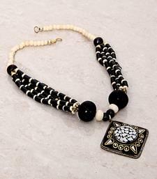 Buy Black Rhombus Tibetean Necklace Necklace online