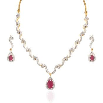 Heena Trendy Collection Necklace Set @ HJNL63R