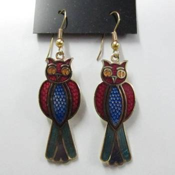 Cute enamel earring
