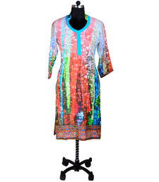 Buy Multicolor Digital Print Kurti kurtas-and-kurti online