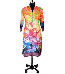 Buy Multicolor Digital Print Kurti evening-wear-dress online