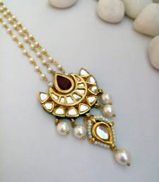 Buy white maroon kundan maang tikka black-friday-deal-sale online
