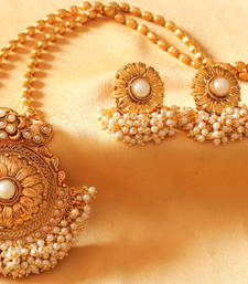 Buy BEAUTIFUL ANTIQUE PEARL CHIAN SET-DJ03272 necklace-set online