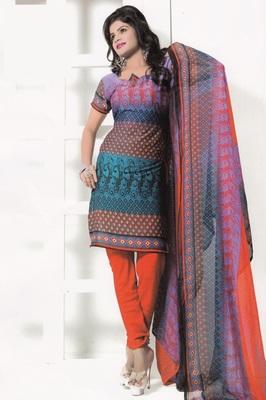 Crepe Dress Material Elegant Designer Unstitched Salwar Suit D.No 7265