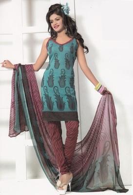 Crepe Dress Material Elegant Designer Unstitched Salwar Suit D.No 7270