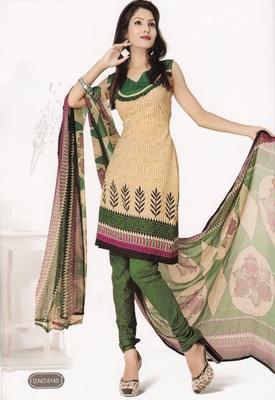 Crepe Dress Material Elegant Designer Unstitched Salwar Suit D.No 8145