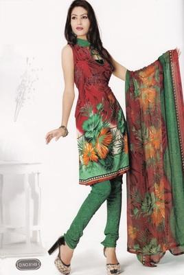 Crepe Dress Material Elegant Designer Unstitched Salwar Suit D.No 8149