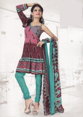 Crepe Dress Material Elegant Designer Unstitched Salwar Suit D.No 4302