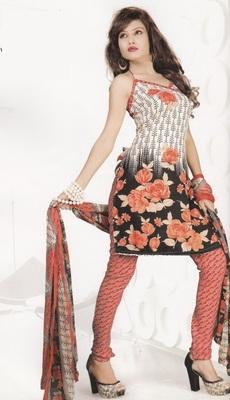 Crepe Dress Material Elegant Designer Unstitched Salwar Suit D.No 4311