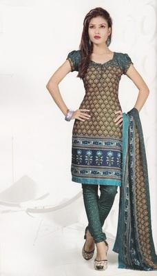 Crepe Dress Material Elegant Designer Unstitched Salwar Suit D.No 4313