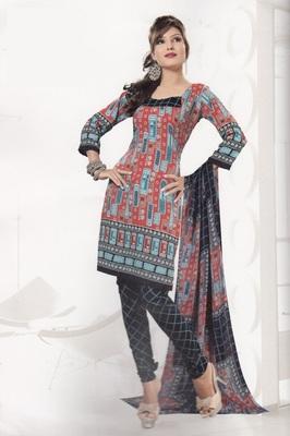 Crepe Dress Material Elegant Designer Unstitched Salwar Suit D.No 4331