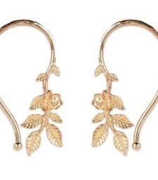 Buy Rose Flower Leaves Cuff Earrings jewellery-below-500 online