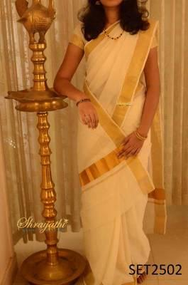 Kerala Set Saree with blouse