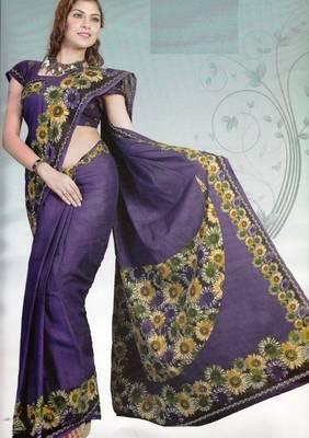Elegant Cotton Saree With Blouse Piece D.No 986