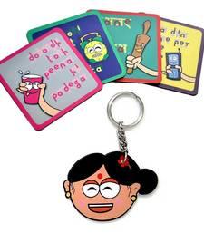 Buy Mummy Ki Zubaani Tea Coasters n Key Chain Combo gifts-for-mom online