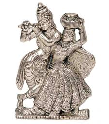 Buy Lord Radha Krishna Antique Metal Idol Mothers Day gifts-for-mom online