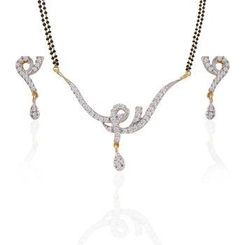 Heena Western Mangalsutra set with CZ stones >> HJMS05 <<