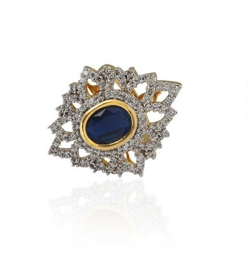 Heena Trendy Blue Colour stone Ring >> HJRN12BL <<