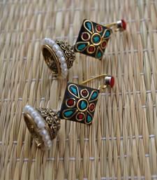 Buy red laakh jhumki jewellery-below-500 online