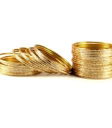Buy classy bangles Color-Golden ganpati-jewellery online