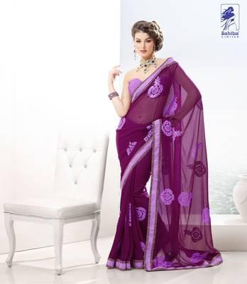 Elegant Designer Sari Kesar4
