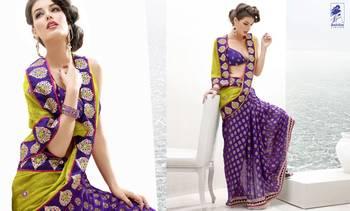 Elegant Designer Sari Kesar7