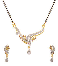 Buy Luxor American Diamond Studded Classy Mangalsutra Mother's Day Gift for Women MS-1236 mangalsutra online