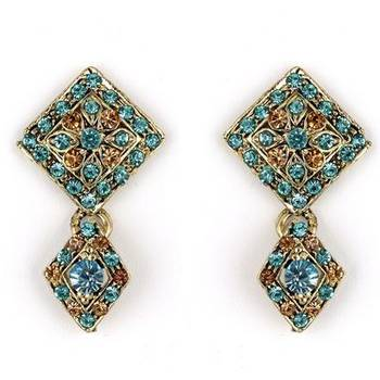 Trendy Earrings in Austrian Diamonds