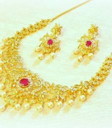 Buy Royal fine micron plating ad CHANGEBLE STONE nacklace set designer-jewellery online