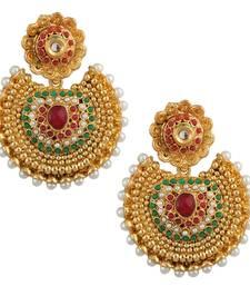 Buy Ethnic Kundan like Earrings with Pearls by ADIVA a74 cb26 danglers-drop online
