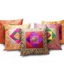 Buy Banarasi Velvet Brocade 5 Pc. Cushion Cover Set other-home-furnishing online