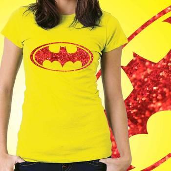 Batman Womens Glitter Tshirt at Offer, Womens Red Special Effect T-shirt