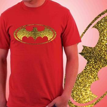 Batman Mens Glitter T-shirt at Offer,Mens Gold Special Effect Tshirt