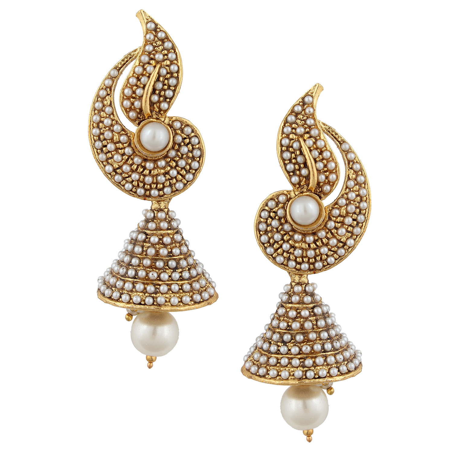 Buy White Flower Indian Pearl Jhumka Earring Jhumki Jhumka Online
