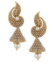 Buy White flower Indian pearl jhumka earring jhumki jhumka online