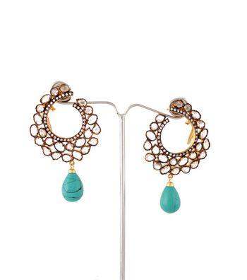 Sihiri Golden Mesh Hoops Earrings
