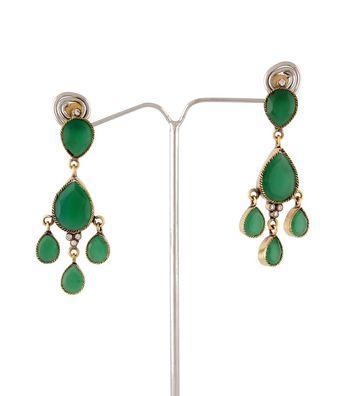 Sihiri Green Chandelier Earrings